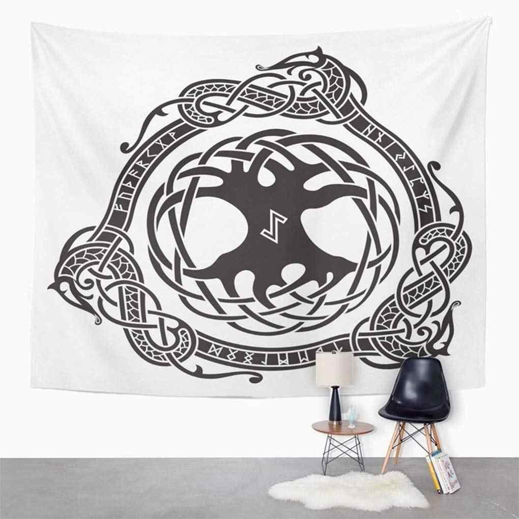 la meilleure attitude d012c c77d7 Mandala Norse Yggdrasil Scandinavian Design The Tree in Nordic Pattern  Viking Ancient Battle Decor Wall Hanging Tapestry