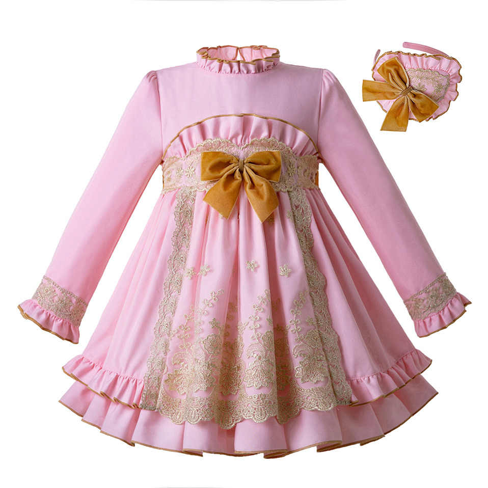 Pettigirl Pink Baby Dress For Girls Princess Birthday Party Dresses Girl  Christening Boutique Kids Clothing Robe 5f7f2b5c4610