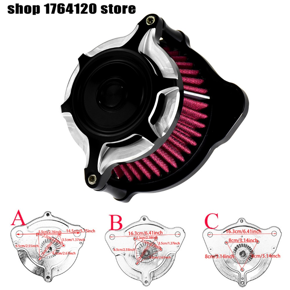 Motorcycle Split Blunt Air Cleaner Intake Filter Kit For Harley Waterproof Xl 55inch Sportster 1991 2017 Dyna 00 17 Softail 18 Touring In Filters Systems From