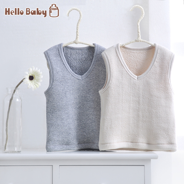 Hellobaby  baby clothes Child vest  Autumn and Winter baby clothes super warm thick vest