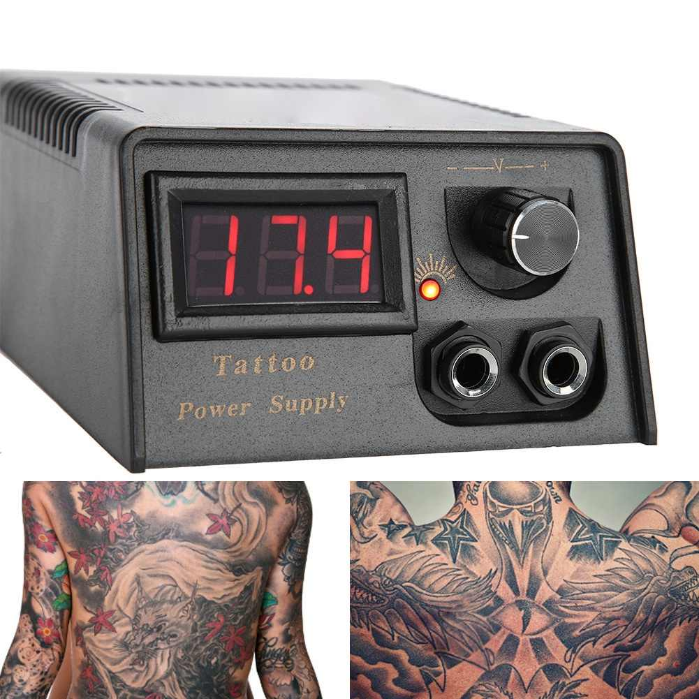 Professionele Digitale LCD Black Tattoo Voeding Voor Tattoo Machine gun