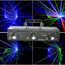 DMX512 3 объектива 3 луч RGB dj диско сценический лазерный светильник вечерние лазерное шоу DMX 730 мВт для ди-Джея свет для сцены освещение