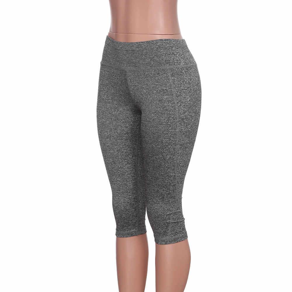 15dc55f1597b5 ... 3/4 Yoga Pants women Calf-length Pants Capri Pant Sport leggings Women  Fitness ...