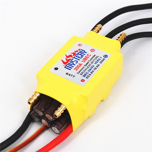 2 7S Lipo 200A ESC 5V/5A UBEC Brushless Speed Controller ESC For RC Boat UBEC200A/S With Water Cooler