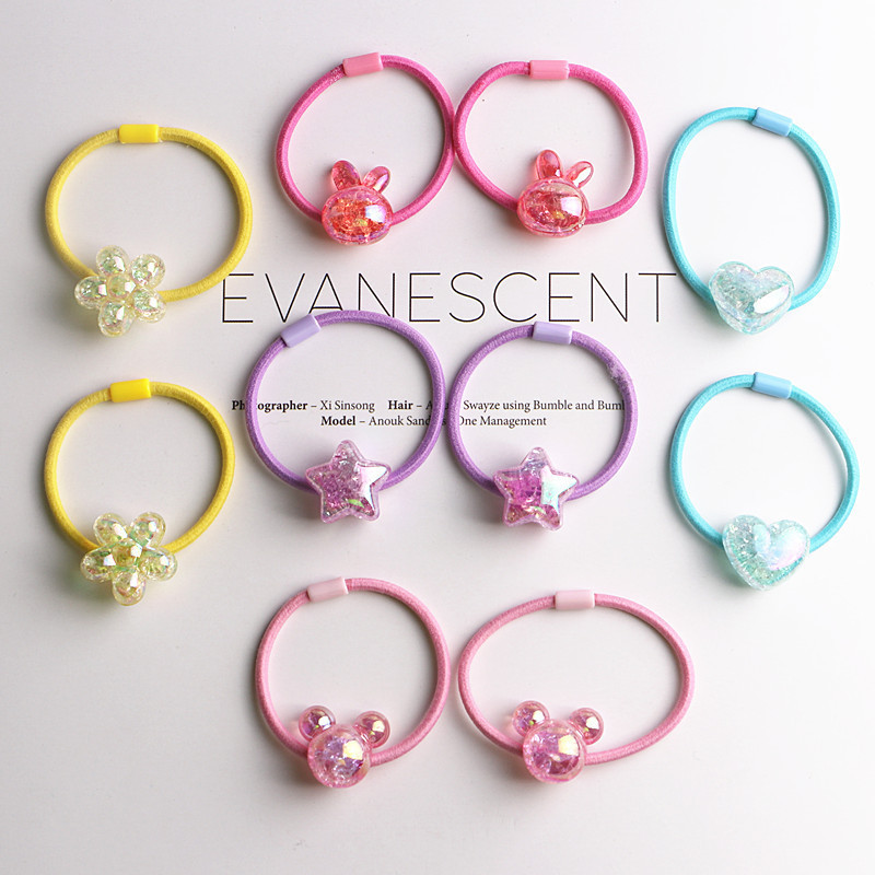 10PCS New Princess Flower Color Ball Kids Elastic Hair Bands Baby Headdress Children Hair Ropes Girls Hair Accessories