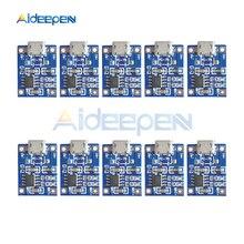10 pcs tp4056 마이크로 usb 18650 리튬 배터리 충전 보드 플레이트 충전기 모듈 + 보호 듀얼 기능 5 v 1a