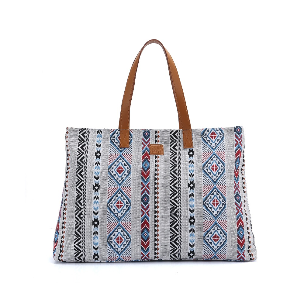 BOHO gitane femmes luxe fourre-tout grand Shopper sac à main Designer inspiré bohème plage voyage Weekender Gym momie sac à couches