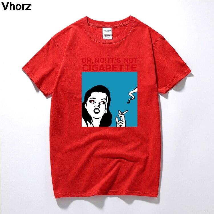OH,NO! ITS NOT CIGARETTE NO SOMKING women man t shirt fashion Personality Harajuku homme camisetas short sleeve O neck t-shirt