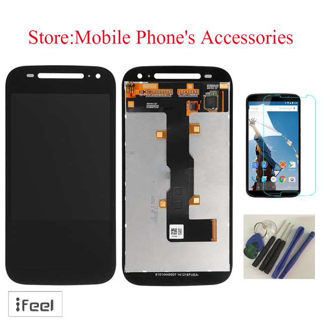 New 100% Test LCD Display Touch Screen Digitizer  For Motorola Moto E2 2015 2nd Gen XT1527 XT1528 Black With free tools