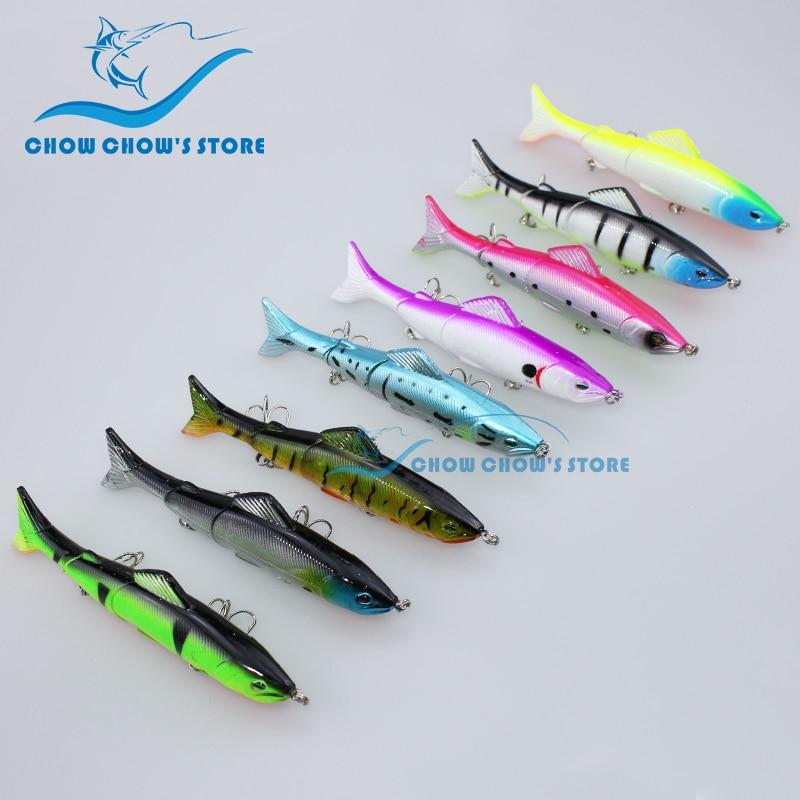 8PCS / Pack 12.5cm 18g 3 Seksione të Jashtme Swimbait 3D Eyes - Peshkimi - Foto 1