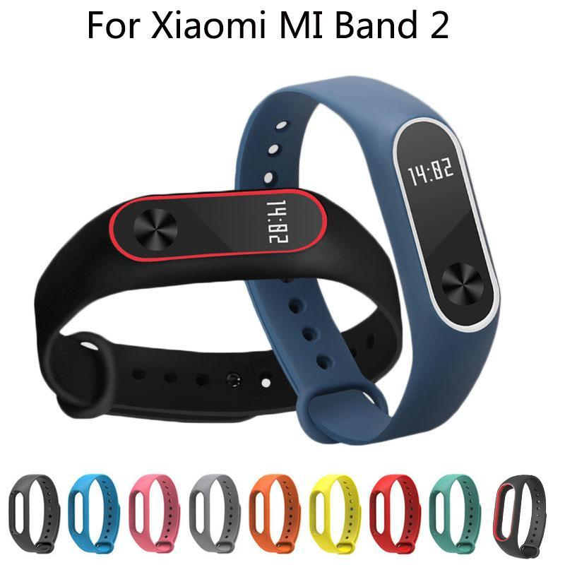 Cewaal Colorful Silicone Wrist Strap Bracelet Replacement Wristbands Smart Band Accessories for Xiaomi Miband 2 Mi band 2
