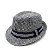 Fashion Summer Women Men Linen Beach Boater Sun Hat For Elegant Lady Gangster Trilby Fedora Cap
