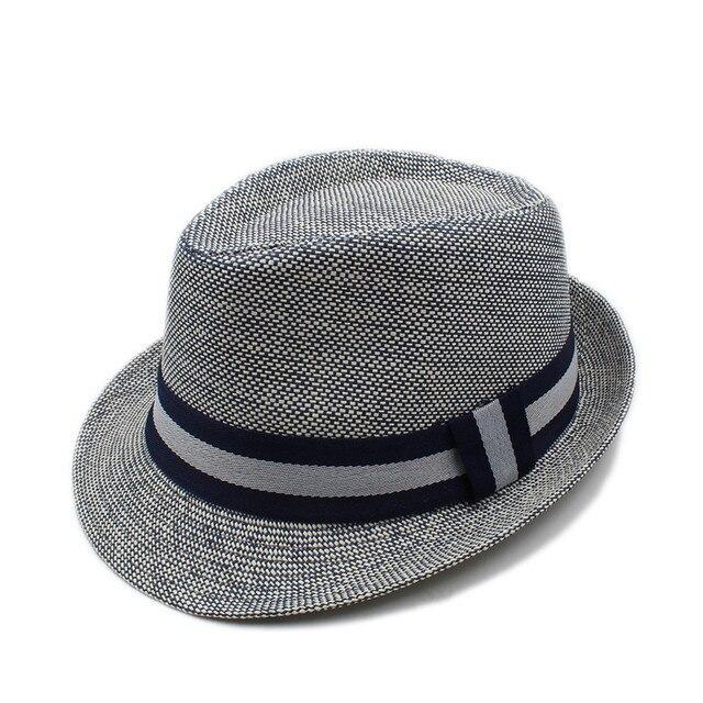 Donne di Estate di modo Uomini di Lino Spiaggia Paglietta Cappello Per Il  Sole Per elegante 7b1244c9184c
