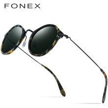 ab8ce2593 FONEX Elástico B Titânio Óculos Polarizados Óculos de Sol Das Mulheres  Designer De Marca 2019 Acetato De Óculos De Sol Do Vintag.