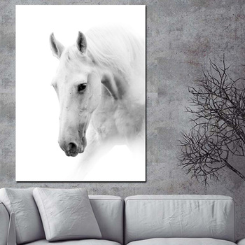 White Horses Paintings Printed on Canvas 1