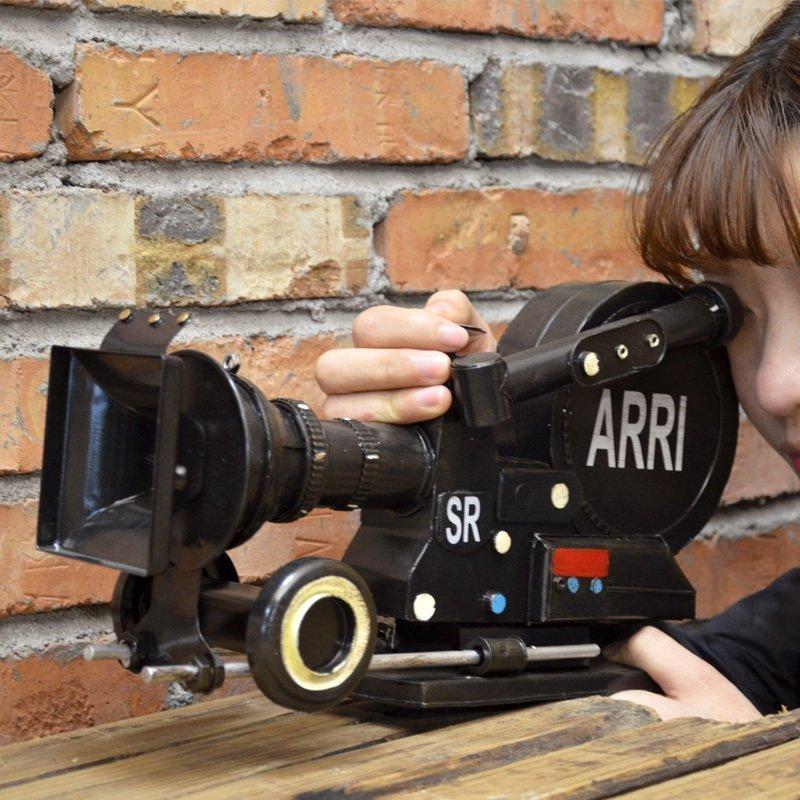 Home Furnishing Retro Metal Camera Home Furnishing Decorative Ornaments Decor Handmade Crafts Video Tin Props