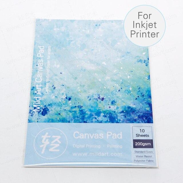 a4 a3 fine texture matte polyester canvas pad art paper prints