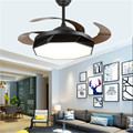 Невидимый потолочный вентилятор свет большой ветер дома гостиная столовая гардероб вентилятор свет современный простой один вентилятор