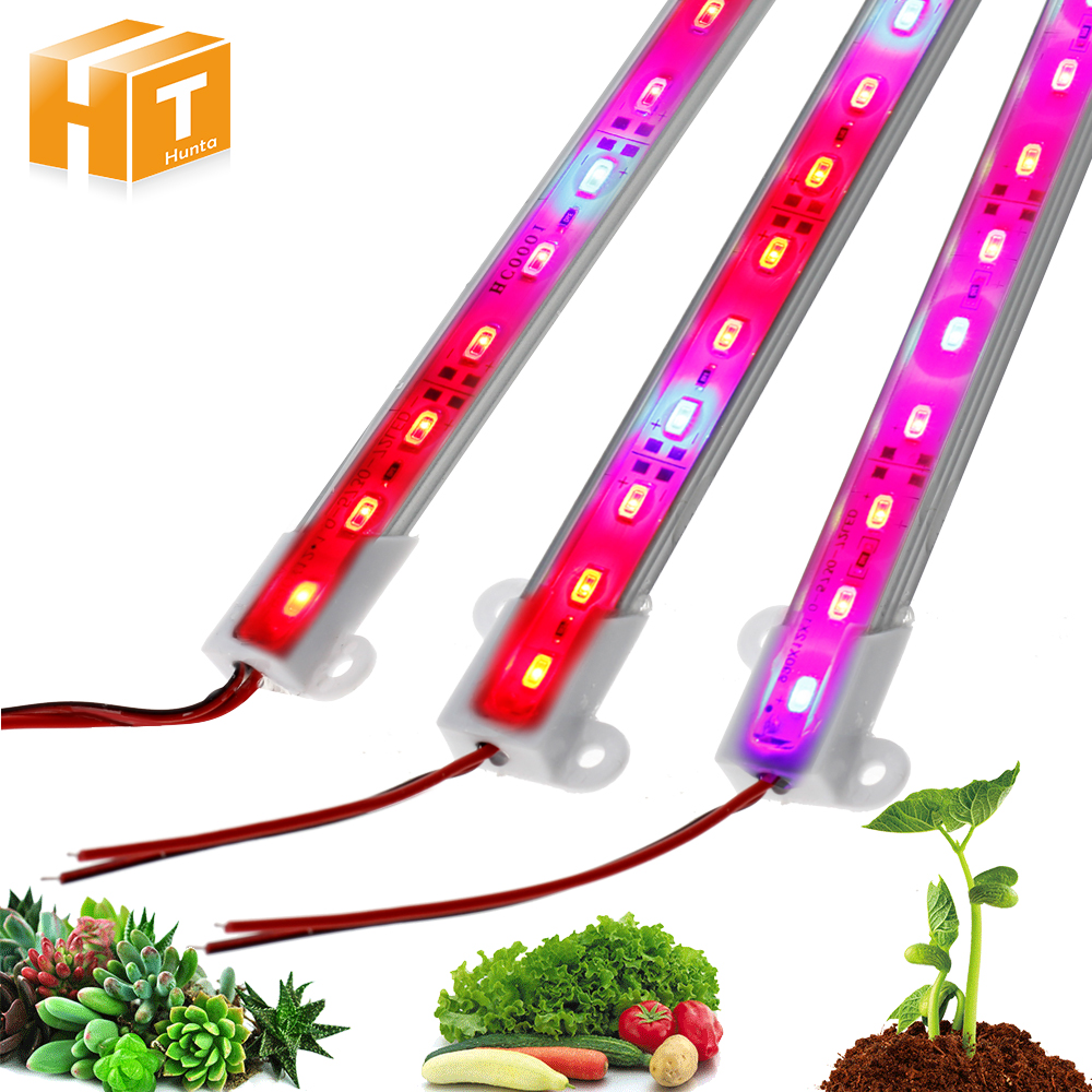 5Pcs/Lot LED Grow Lights DC12V IP68 Waterproof 5730 LED Bar Light for Aquarium Greenhouse Indoor Plant Growing Lights(China)