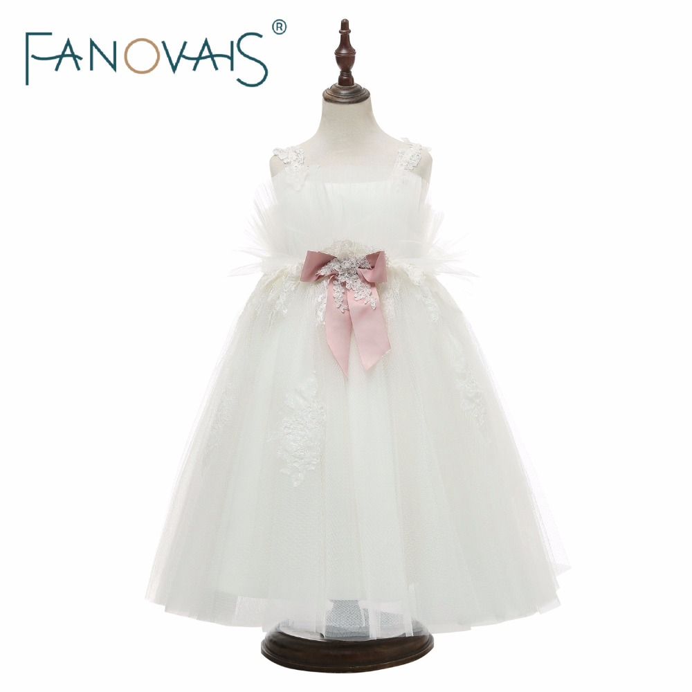 Tulle   Flower     Girl     Dresses   Lace Straps   girls     dresses   2019 communion   dresses     girls     dress   for party and wedding robe mariage fille