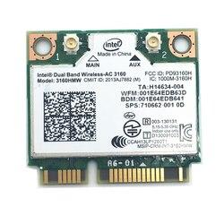 Dla 3160HMW Wifi Bluetooth 4.0 wireless-ac Intel 3160 802.11 AC 433Mbps dwuzakresowy Mini PCI-E karta Wlan darmowa wysyłka