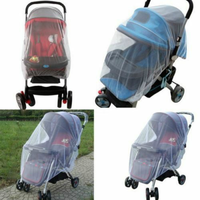 1pcs White Stroller Pushchair Mosquito Insect Net Mesh Buggy Cover For Baby Infant Baby Pushchair Protect Netting