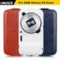 Marca imuca para samsung galaxy s4 zoom tampa flip de couro para samsung galaxy s4 zoom casos com pacote de varejo