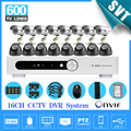 16 Channel 600TVL IR à prova de intempéries de vídeo vigilância CCTV Kit 16ch wifi DVR Recorder sistema camera Kit disco rígido de 1000 gb SK-215