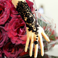 B120 bride wedding accessories black lace flower vintage  set fashion hot-selling