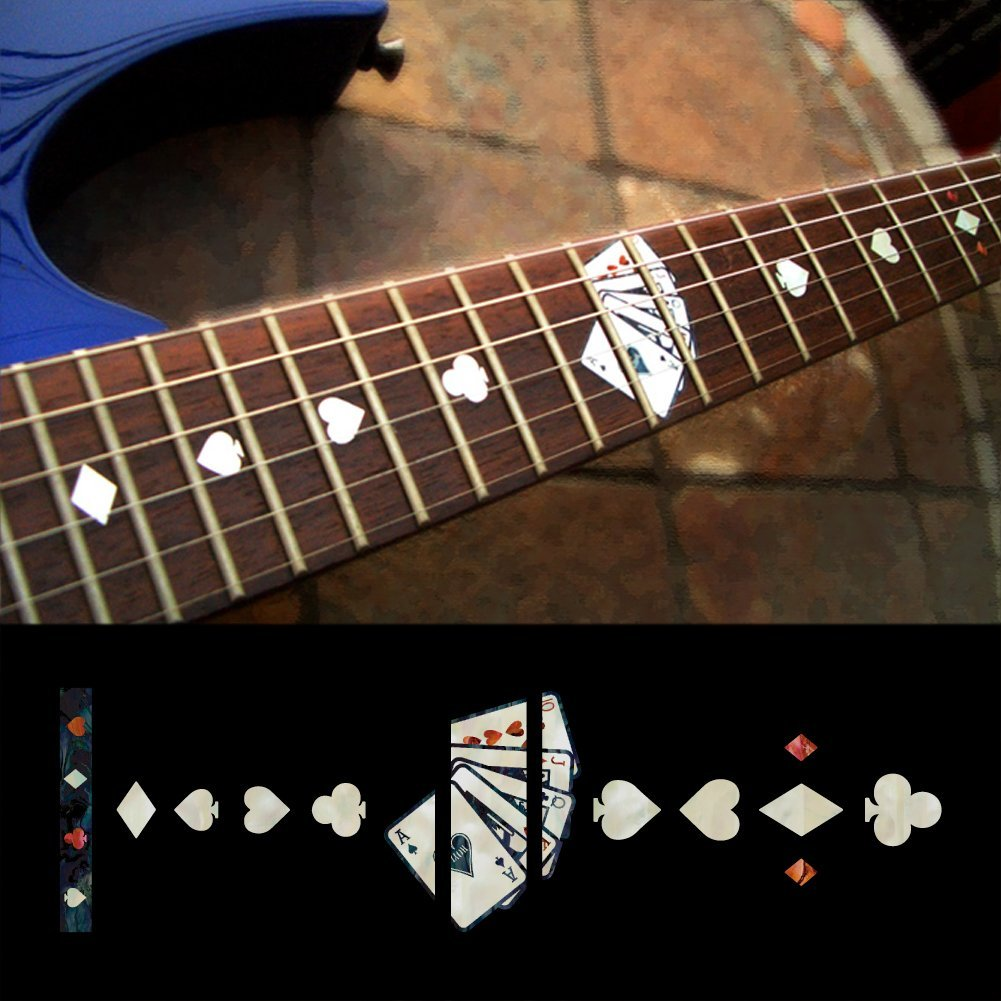 Fretboard Markers Inlay Sticker Decals for Guitar - Playing Card fretboard markers inlay sticker decals for guitar twisted snake