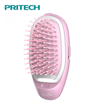 Pritech  Mini  Hair Comb Electric Massage Hair Brush Potable Ionic Comb For Hair  Take Out Anti -Static Girls Hair Brush 1