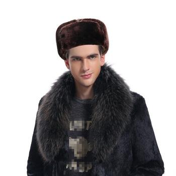Nowy czarny ciepłe czapki zimowe dla mężczyzn jednolity kolor rosyjski Bomber czapki z maską grube czapki zimowe dla taty z polaru rosyjskie futrzane czapki tanie i dobre opinie oZyc Unisex Dla dorosłych Kapelusze bomber Patchwork z-60 Akrylowe winter hats winter bomber hats Casual Fashion Winter hat hat winter