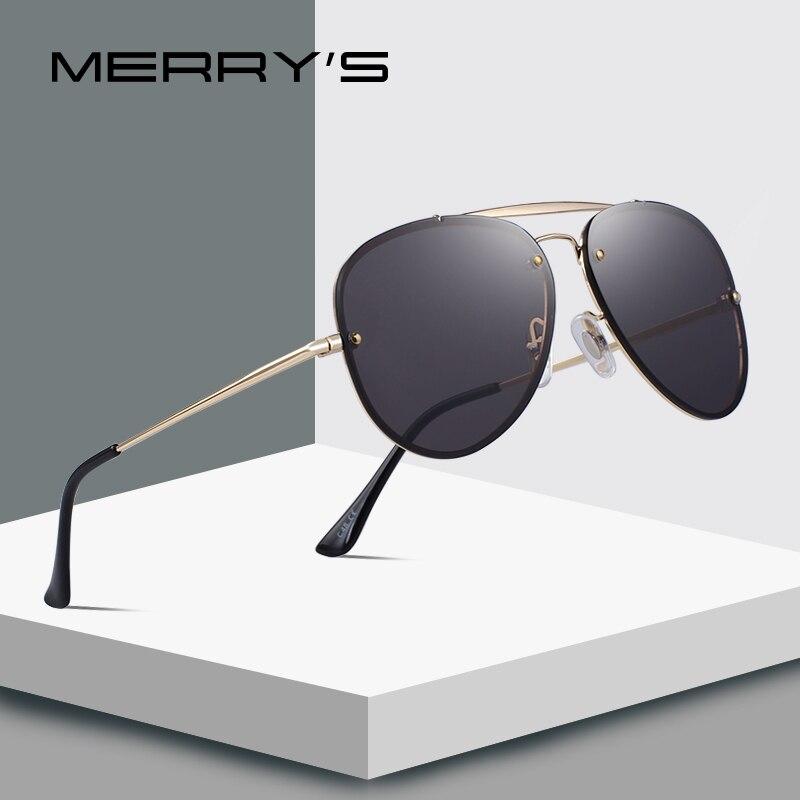 MERRY'S DESIGN Men/Women Fashion Pilot Sunglasses Twin-Beams Frame Sun Glasses Metal Temple 100% UV Protection S'6367