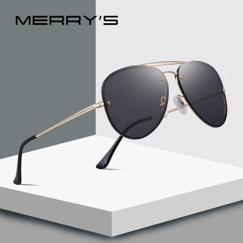 MERRYS DESIGN Men/Women Fashion Pilot Sunglasses Twin-Beams Frame Sun Glasses Metal Temple 100% UV Protection S6367