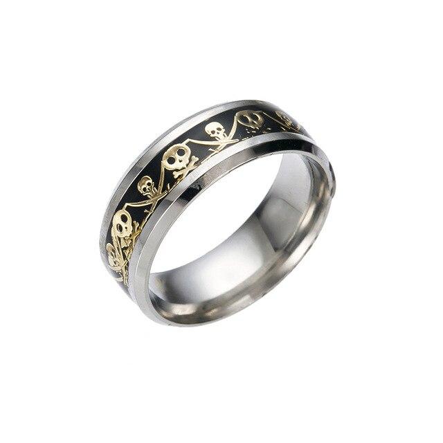 Retro Style Steel Men Ring Anium Jewelry Accessories Punk Skull Wedding Rings For Women