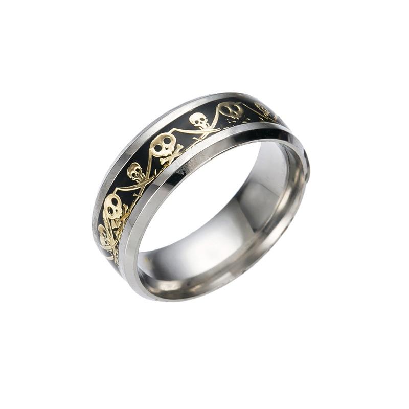 retro style steel men ring men titanium steel jewelry accessories punk skull wedding rings for women - Mens Skull Wedding Rings
