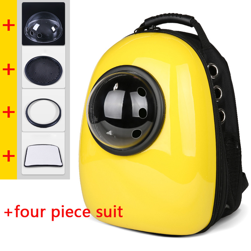 Space Cat Bag Shoulder Puppy Breathable Portable Cat Zipper Space Capsule Travel Backpack Out Yellow Package Cat Space Capsule  Space Cat Bag Shoulder Puppy Breathable Portable Cat Zipper Space Capsule Travel Backpack Out Yellow Package Cat Space Capsule