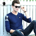 New men's Casual Sweater 2016 Autumn Fashion Color Blocking High Quality Plus Size Casual Sweater For Men Base Shirt C33E6801