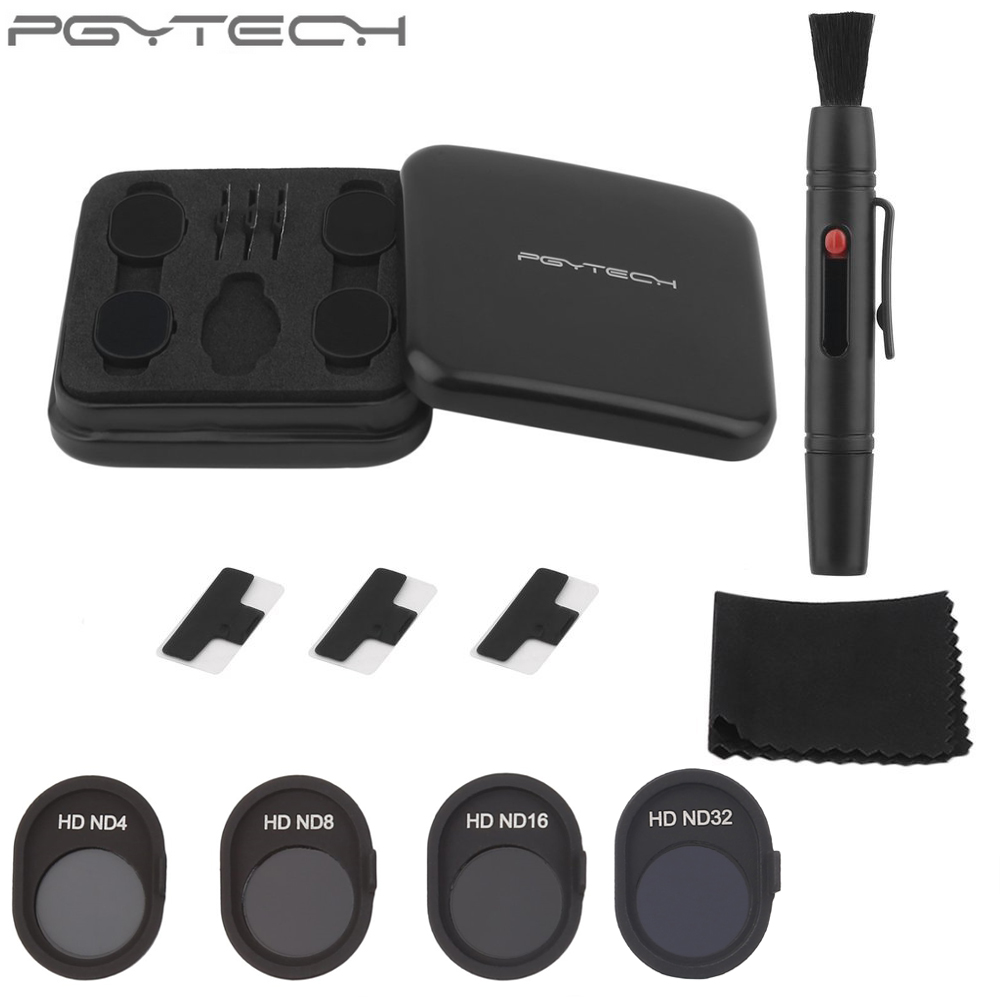 4pcs Box Original PGYTECH Filters Set ND4 ND8 ND16 ND32 Lens For DJI SPARK Drone