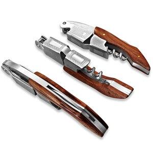 Wood Handle Professional Red Wine Opener Multifunction Portable Screw Corkscrew Wine Bottle Opener Cook Tools(China)