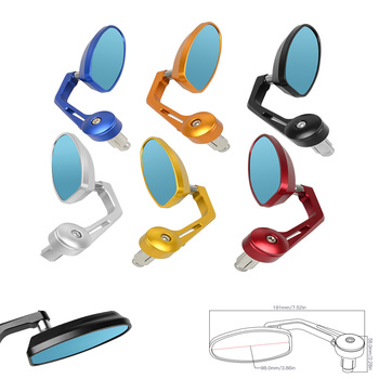 Motorcycle 22mm Aluminum Bar End Side Rearview Mirror Motorbike Bike Handlebar Rear View Mirrors for yamaha tmax mt 07 09 yzf r1