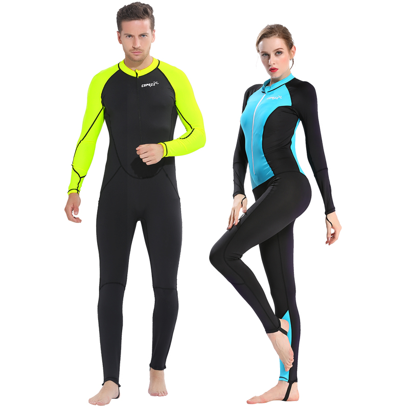 Copozz Full Body Scuba Diving Wetsuit Men Women Snorkeling Swimming Suits For Surfing Spearfishing One-Piece underwater jumpsuit