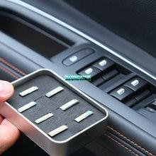 Декор для автомобилей с покрытием, кнопка стеклоподъемника, переключатель, украшение для peugeot 4008 5008 GT, автомобильные аксессуары, автостайлинг