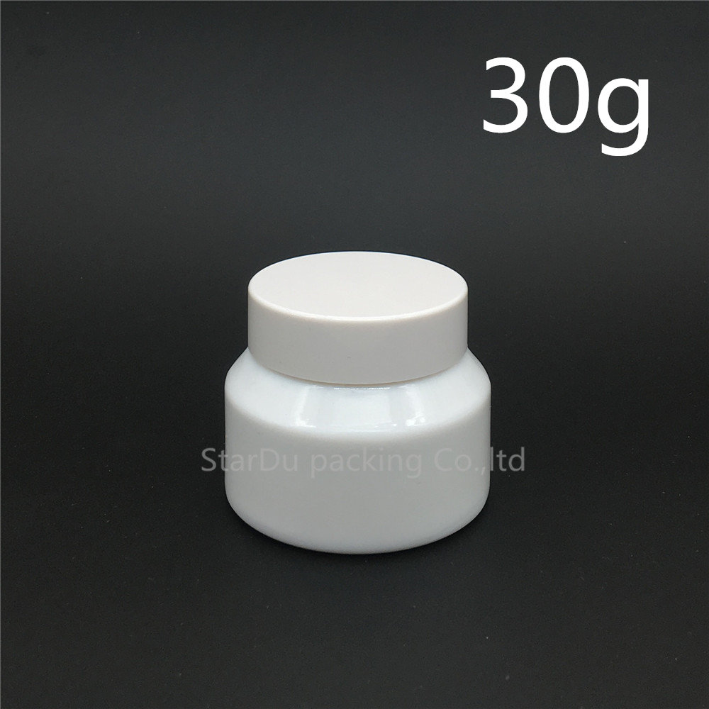 Free shipping 15g 30g White porcelain glass jars with white lid, frost cream jars, High-quality cosmetic containers dispenser lid monin syrups 1833 syrups pump lid syrups dispenser monin glass bottle pump lid with high quality