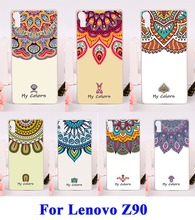 DIY Painted Hard Plastic &Soft TPU Silicon Phone Cases For Lenovo Vibe Shot Z90 Z90-7 Vibe Max Shell Cover Colors Flowers