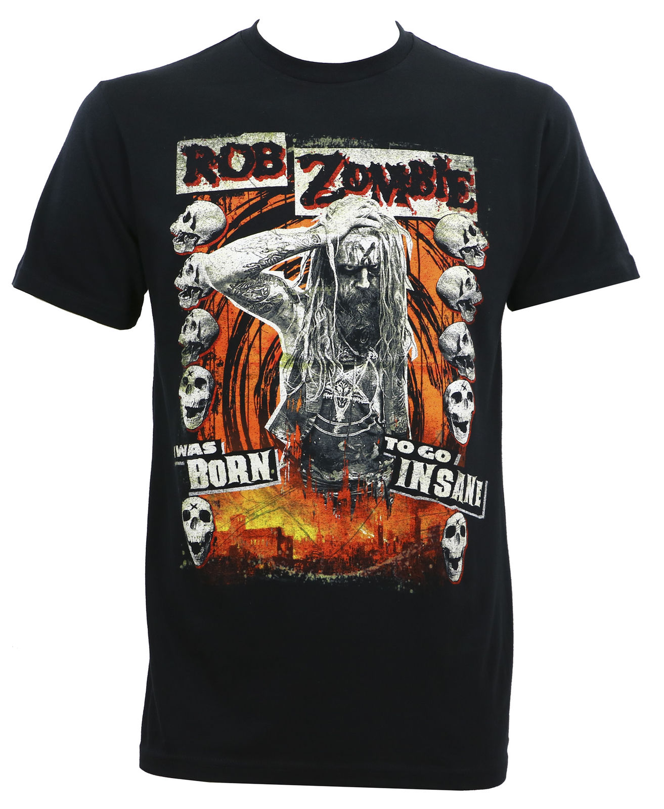 Authentic ROB ZOMBIE Born To Go Insane Slim-Fit T-Shirt S M L XL 2XL 3XL NEW Summer Short Sleeves Cotton T Shirt Fashion