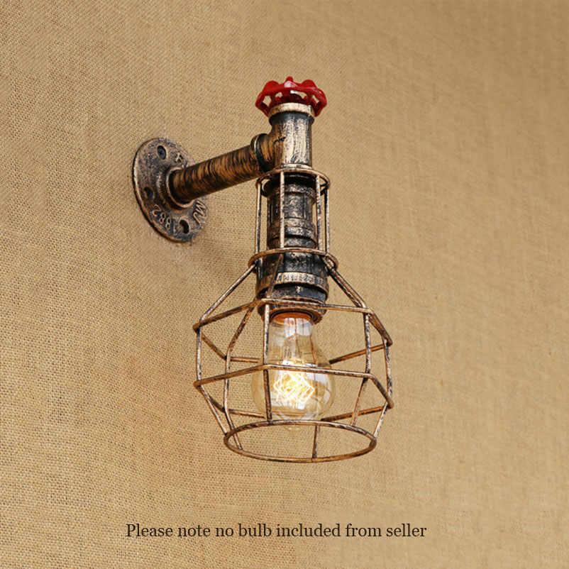 Vintage wand lampen retro loft eisen licht schlafzimmer studie treppen korridor bar club pub restaurant cafe lampen bh wandleuchte