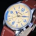 Mens relógios Top marca de luxo relógio de quartzo CURREN moda Casual Masculino relógio de pulso de quartzo relógio relógio Masculino