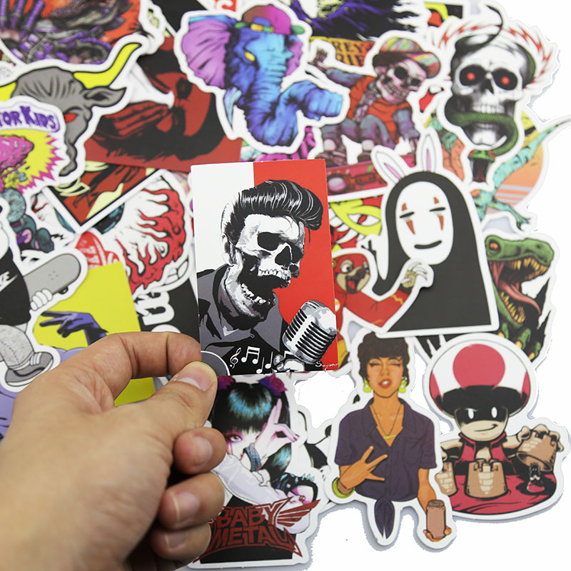 50Pcs Lot Styling Pvc Waterproof Doddle Sticker For Wall Laptop Motorcycle Skateboard Mobile Phone Luggage Decal