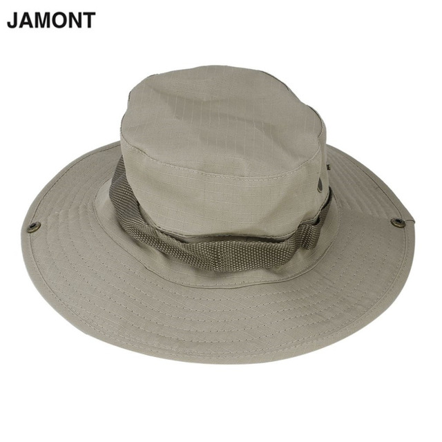 Summer Men Bucket Hats Round Wide Brim Caps Men Hiking Fishing Sunscreen  Cutton Caps Fisherman Bucket Hat UV protection 0601ff13f02